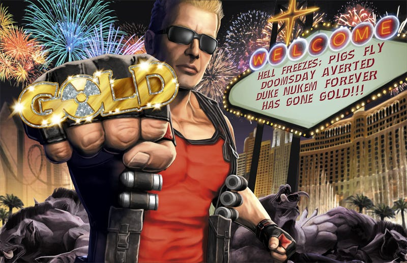 Illustration for article titled Nothing Could Possibly Go Wrong Now That Duke Nukem Forever Has Gone Gold