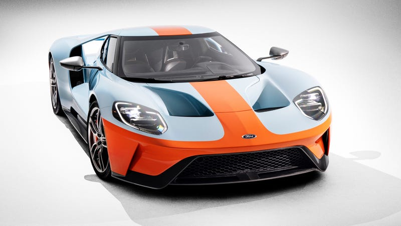 Illustration for article titled Settled: The New Ford GT Looks Best In Gulf Livery