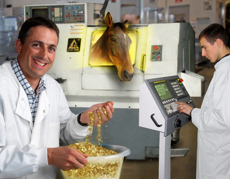 Illustration for article titled Scientists Extract Gold From Horse's Legs—And Other Hilariously Absurd Stories