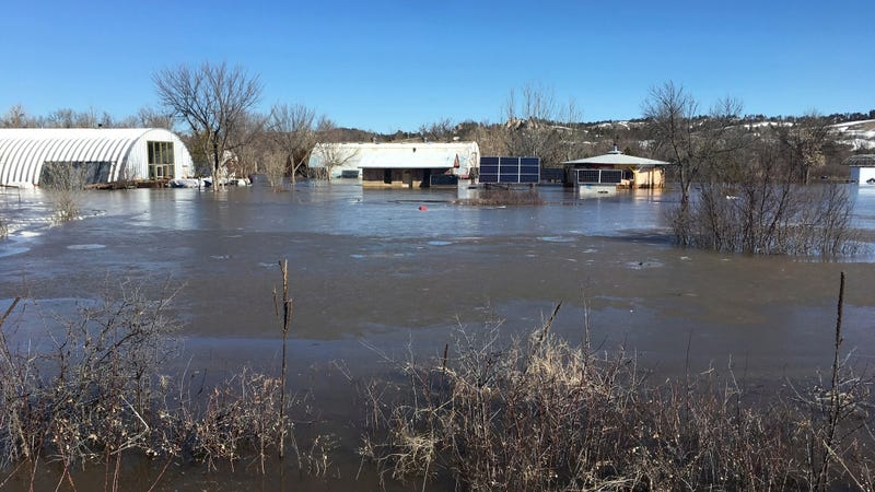 This is how flooding in March 2019 left one person's property on the Pine Ridge Reservation.