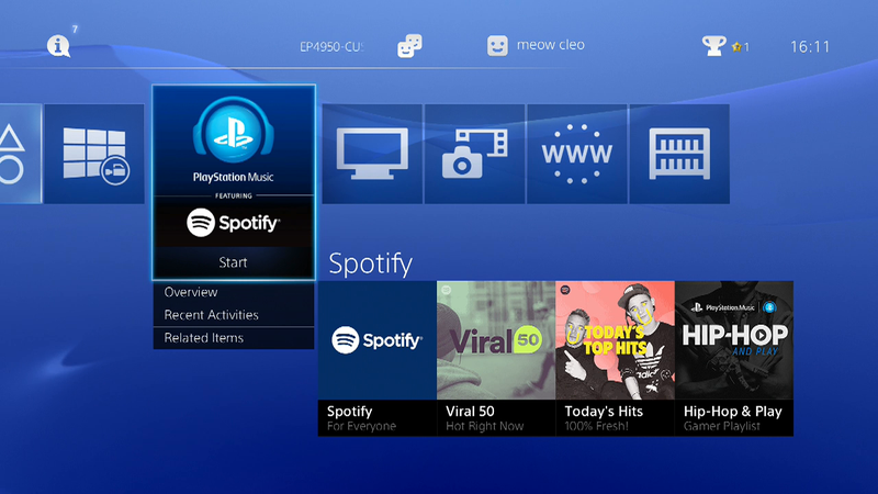 Illustration for article titled Ya puedes escuchar Spotify y jugar a la vez en tu PS4 o PS3