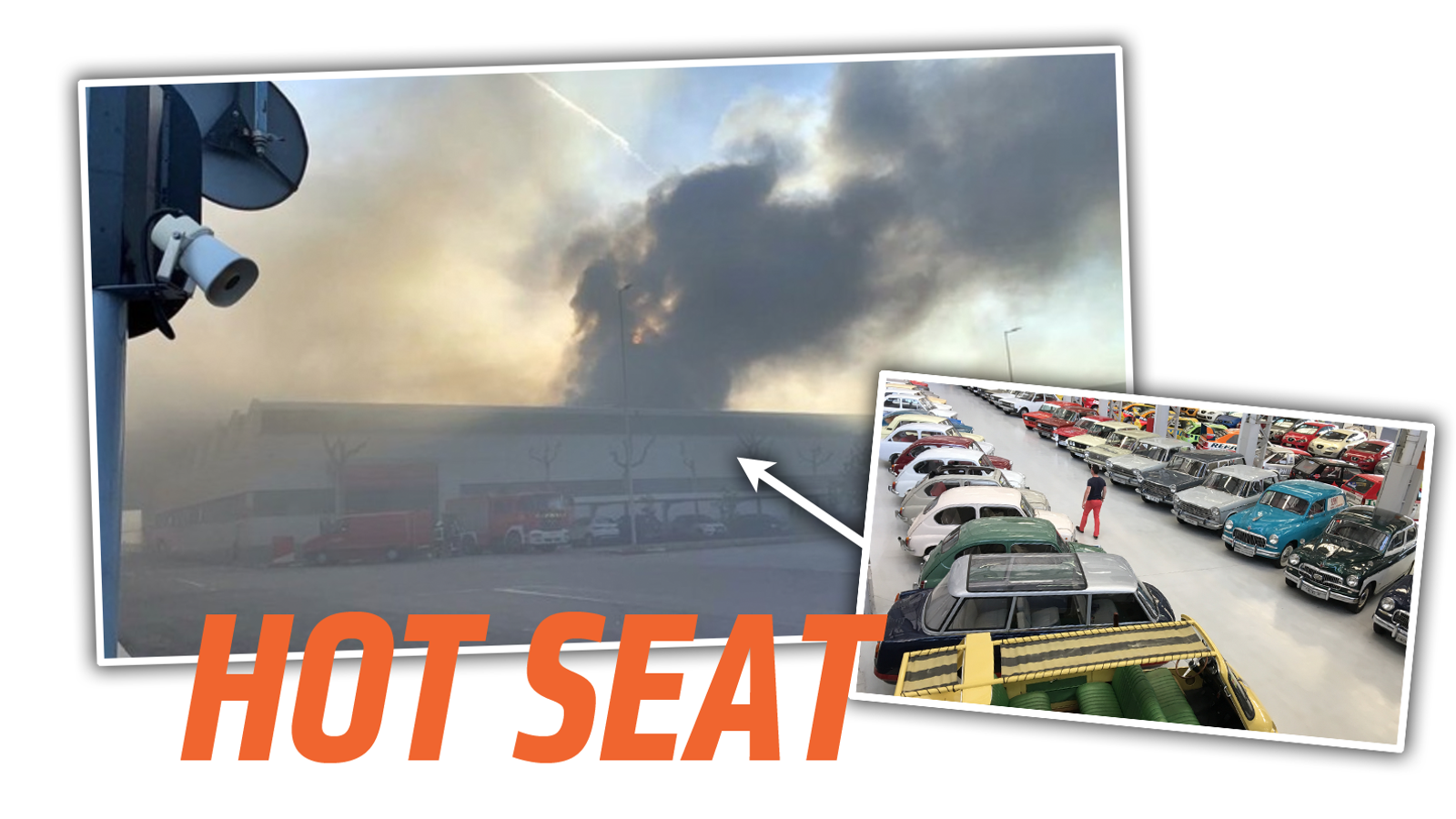 a6db1a88d04 Fire Breaks Out at Seat s Historic Collection of 200 Classic Cars ...