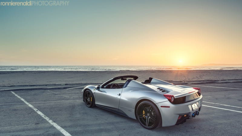 Illustration for article titled Feel Free To Contemplate Your Lust For The Ferrari 458 Spider