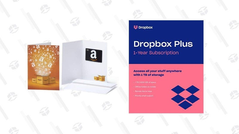 Dropbox Plus (1TB) con tarjeta regalo de Amazon de $20 | $99 | AmazonGráfico: Jillian Lucas