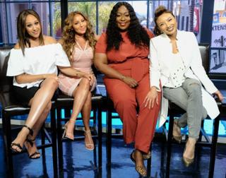 The Real co-hosts Tamera Mowry-Housley, Adrienne Bailon, Loni Love and  Jeannie MaiFox Screenshot