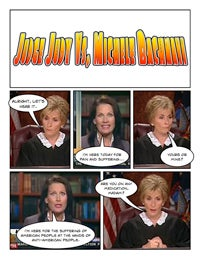 Illustration for article titled Comic Confrontations: Judge Judy Vs. Michele Bachmann