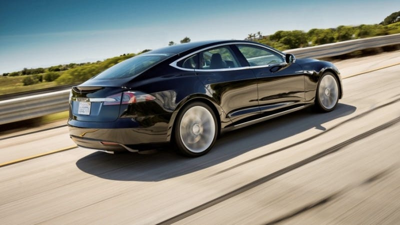 "Illustration for article titled Tesla Model S ""Alpha"" shows off a sleeker electric ass"