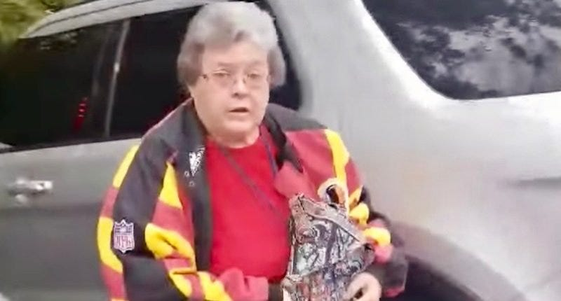 Maryland woman captured on video admitting to calling black man the N-word. Oh, and peep the jacket.