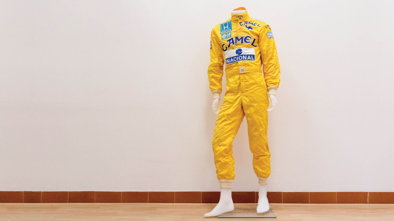 Illustration for article titled Formula One Legend Ayrton Senna's Race Suit Is Up For Auction