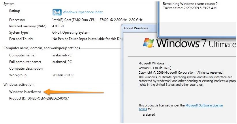 crack of windows 7 ultimate 32 bit