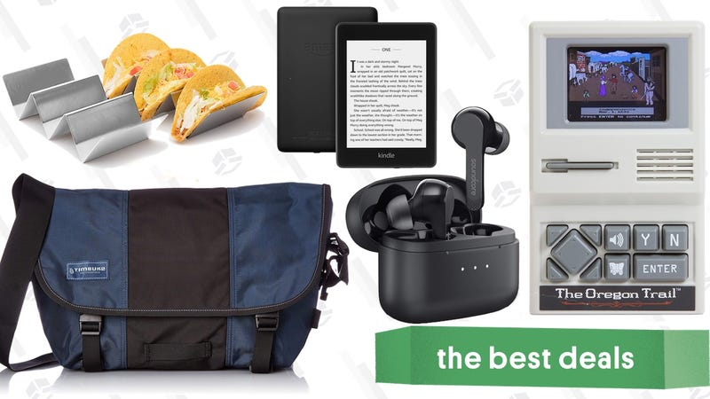 Illustration for article titled Monday's Best Deals: Timbuk2, Oregon Trail, Anker Earbuds, Waterproof Kindle, and More
