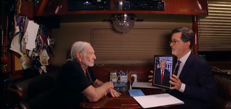 Willie Nelson, Stephen Colbert