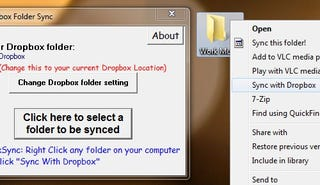 Illustration for article titled Dropbox Folder Sync Adds Any Folder to Dropbox with a Right-Click