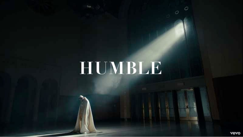 """Illustration for article titled Young pope Kendrick Lamar stays """"Humble"""" in his new video"""