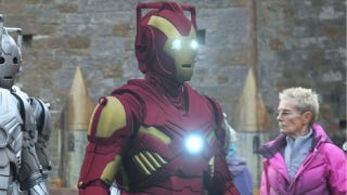 Illustration for article titled The Iron Cyberman is the best (fake) cosplay mashup of 2012