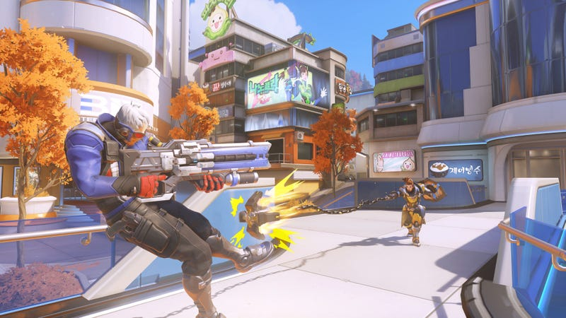 Illustration for article titled Overwatch's New Busan Map Is A Chaotic Blast
