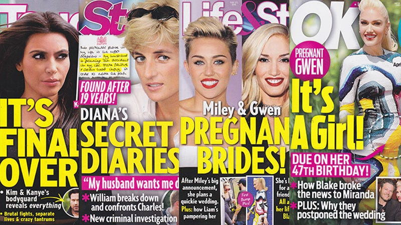 Illustration for article titled This Week In Tabloids: Mary-Kate Olsen, Miley Cyrus, Nicole Kidman, and Gwen Stefani Are Pregnant