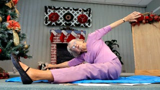 Illustration for article titled World's Oldest Yoga Teacher Is As Adorable As She Is Flexible