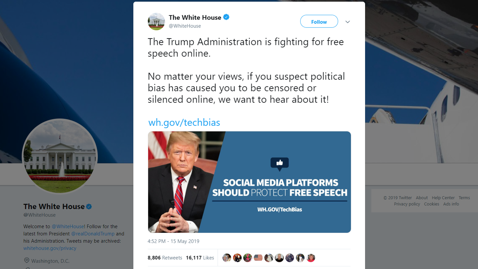 photo of Trump Admin Creates Web Portal for Supporters to Complain About Getting Banned on Social Media image