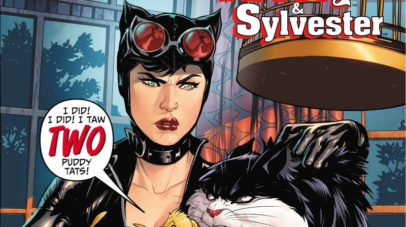 Illustration for article titled Cartoon antics come to Gotham in thisCatwoman/Tweety & Sylvesterexclusive