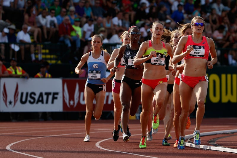 This is the sport of running. That's my hometown hero Heather Kampf up front. Photo via Getty