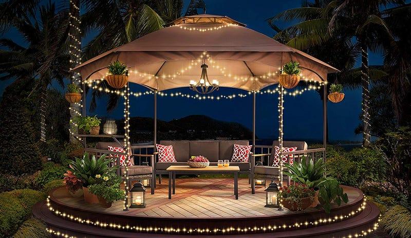 Sunjoy Madison Pavilion Hex Shape Soft Top Gazebo | $350 | Amazon
