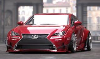 Illustration for article titled Rocket Bunny Lexus RC is JDM, yo