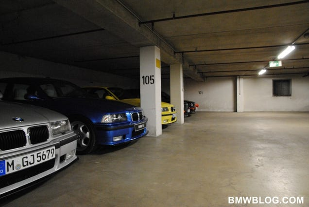 the bmw m secret underground garage. Black Bedroom Furniture Sets. Home Design Ideas