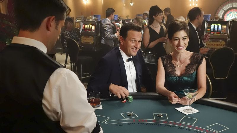 Josh Charles and Lizzy Caplan