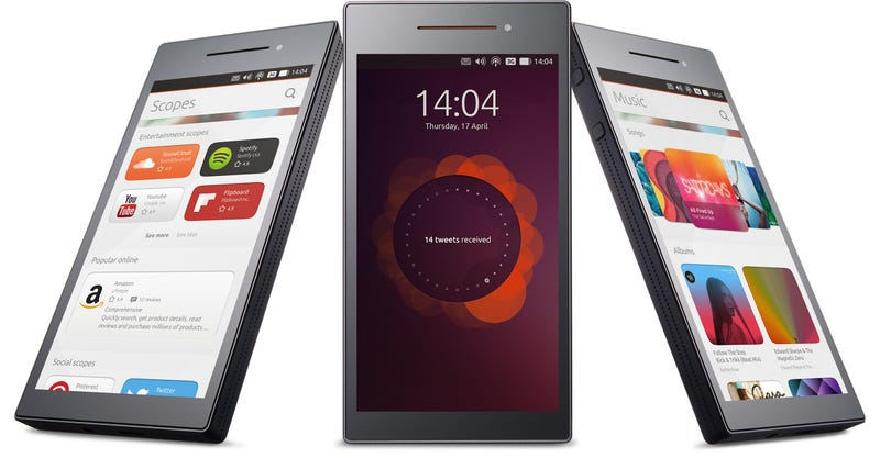 Illustration for article titled Oh Hey, An Ubuntu Phone Is Actually Happening