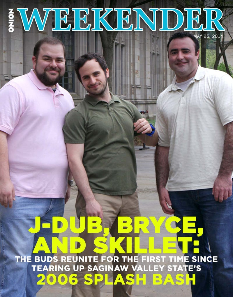 Illustration for article titled J-Dub, Bryce, And Skillet: The Buds Reunite For The First Time Since Tearing Up Saginaw State's 2006 Splash Bash