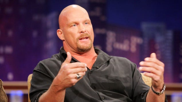 """""""Stone Cold"""" Steve Austin teaches the finer points of properly double-chugging beers"""