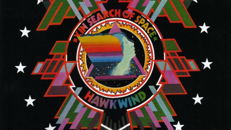 Illustration for article titled An initiation into the psychedelic sci-fi rock of Hawkwind