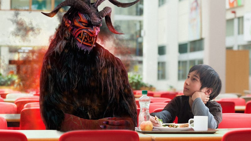 Illustration for article titled Heartwarming: When This Kid Was Eating Lunch Alone, His Classmates Summoned The Devil To Sit With Him