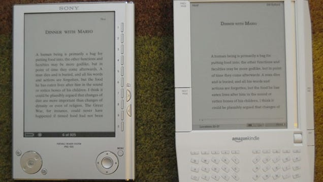 Kindle Vs Sony Reader: Amazon Kindle Vs. Sony Reader: Sizemodo And Interface