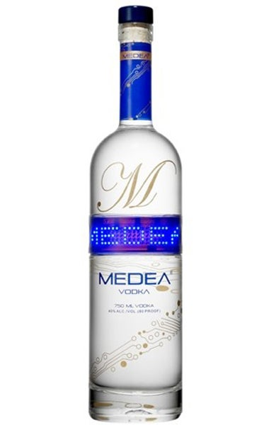 Illustration for article titled Vodka Bottle's Programmable LED Ticker Is Worth a Shot