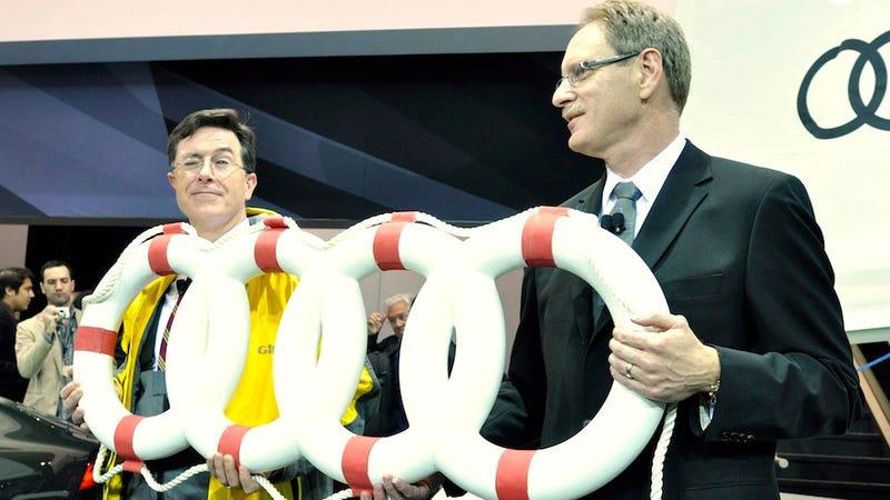 Illustration for article titled Audi sponsors Stephen Colbert's sailboat