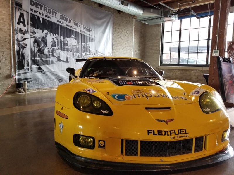 The Corvette C6.R brought the thunder to France...so cool to see it here.