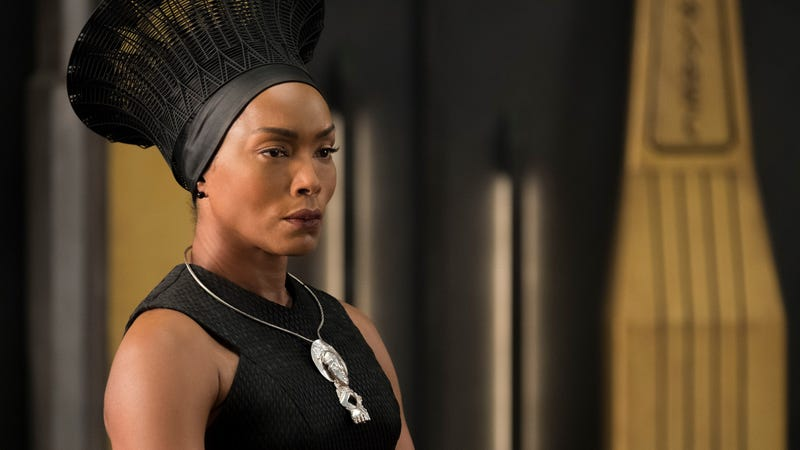 Angela Bassett as Queen Mother Ramonda in Black Panther.