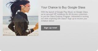 Illustration for article titled Si eres suscriptor de Google Play Music, podrás comprar Google Glass