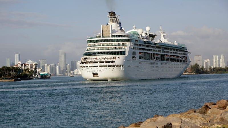 Royal Caribbean's Grandeur of the Seas comes into the Port of Miami, Monday, Feb. 5, 2018.