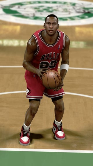 Illustration for article titled NBA 2K11 Jordan and Game Action Screens