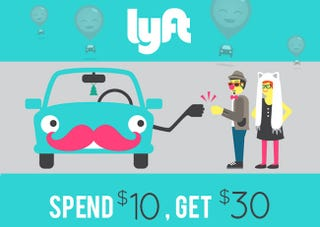 Illustration for article titled Get A Personal Driver With Lyft – $30 of Ride Credit for $10