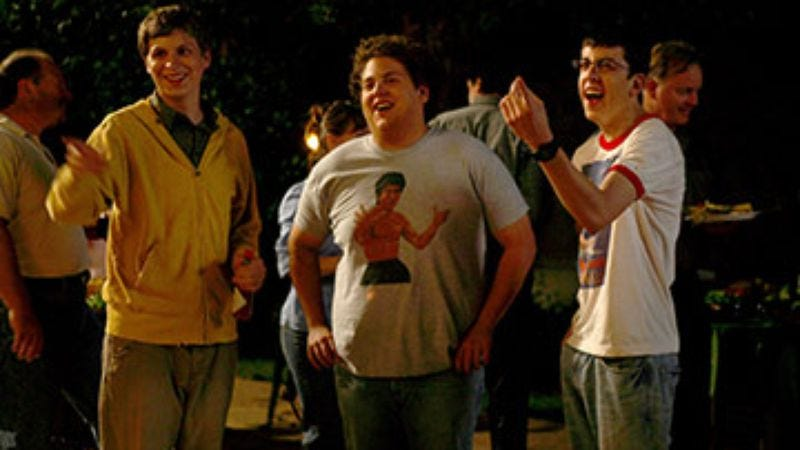 Illustration for article titled Jonah Hill, Michael Cera, and Christopher Mintz-Plasse of Superbad