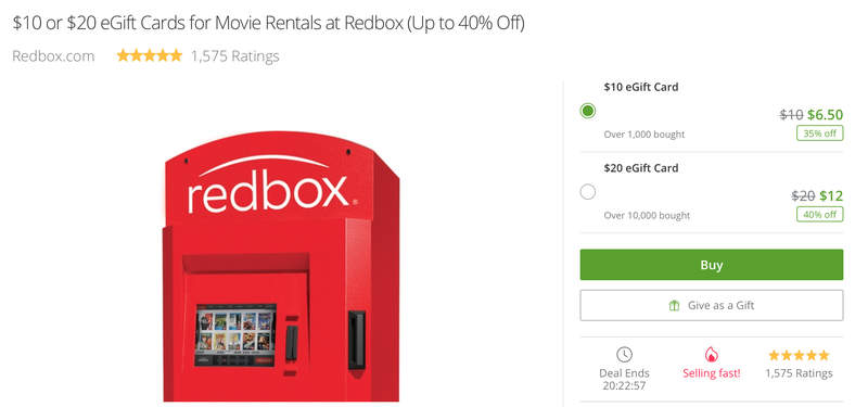 Save Up to 40% On Redbox Rentals With This Discounted Gift Card