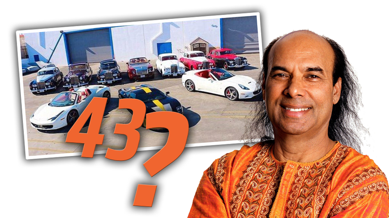 Illustration for article titled 43 Supercars Missing After Alleged Sex-Predator Yogi LosesCourt Case
