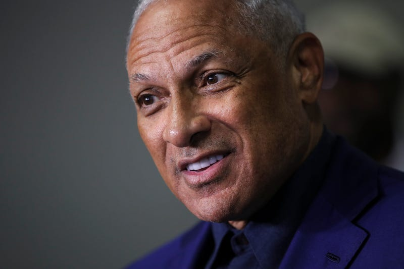 Democratic candidate for U.S. Senate Mike Espy speaks to reporters after voting at a polling place at Highland Colony Baptist Church, November 27, 2018 in Ridgeland, Mississippi.