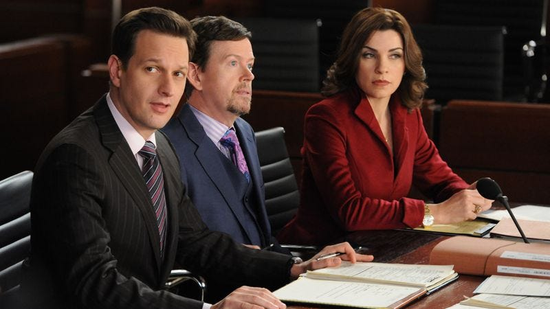 """Illustration for article titled The Good Wife: """"The Wheels Of Justice"""""""