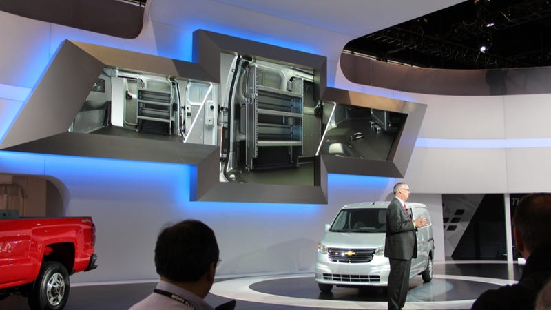 Illustration for article titled Chevy City Express Is The Coolest Cargo Carrier At Chicago Auto Show