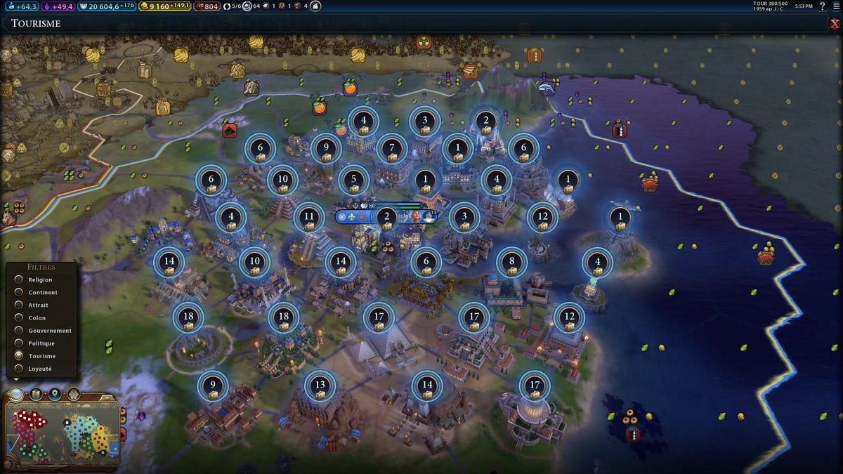 Civilization VI Madman Builds 34 Wonders In One City